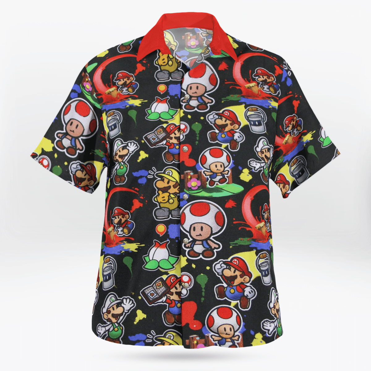Super Mario Luigi Toad Hawaiian shirt