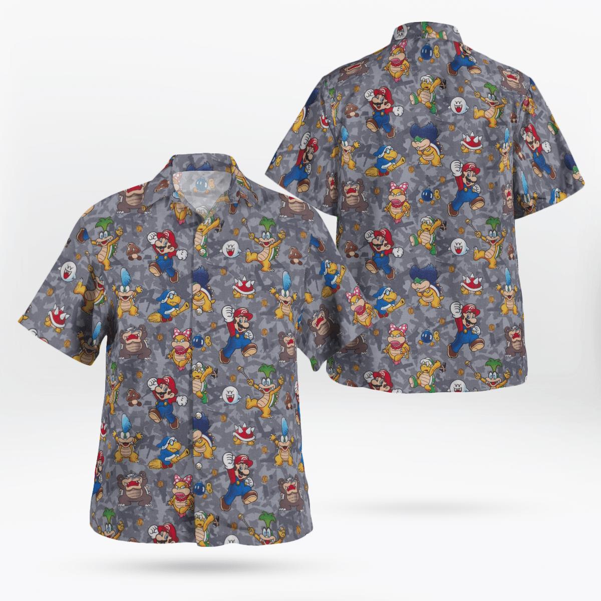Supper Mario and Bowser Hawaiian Shirt