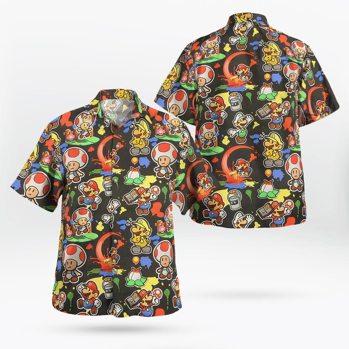 Super Mario Hawaiian Shirt