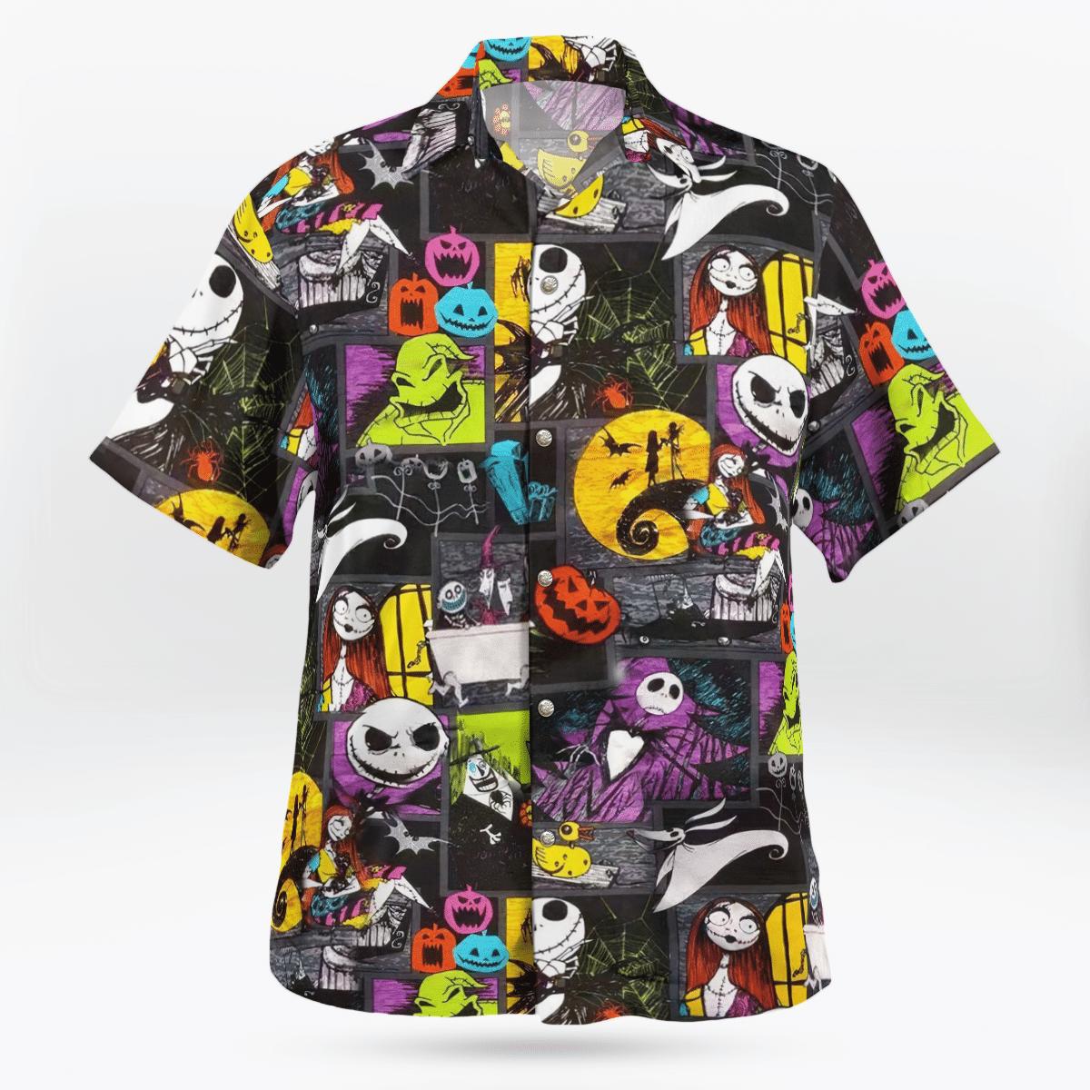 Jack Skellington pumpkin Hawaiian Shirt