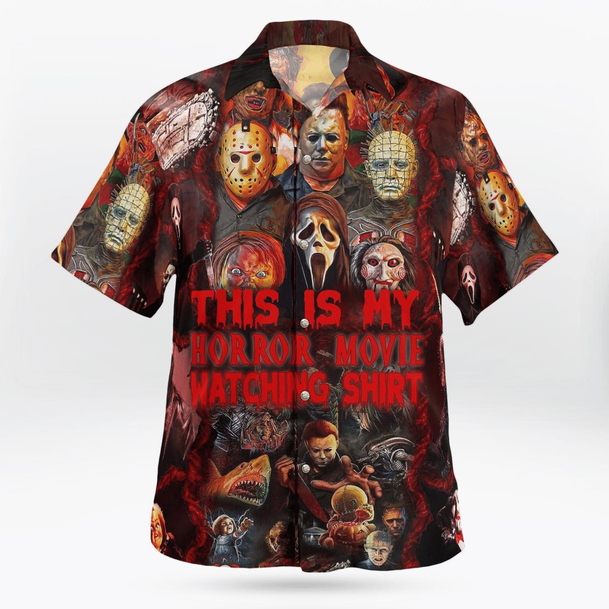 Halloween This is my horror movie watching Hawaiian Shirt