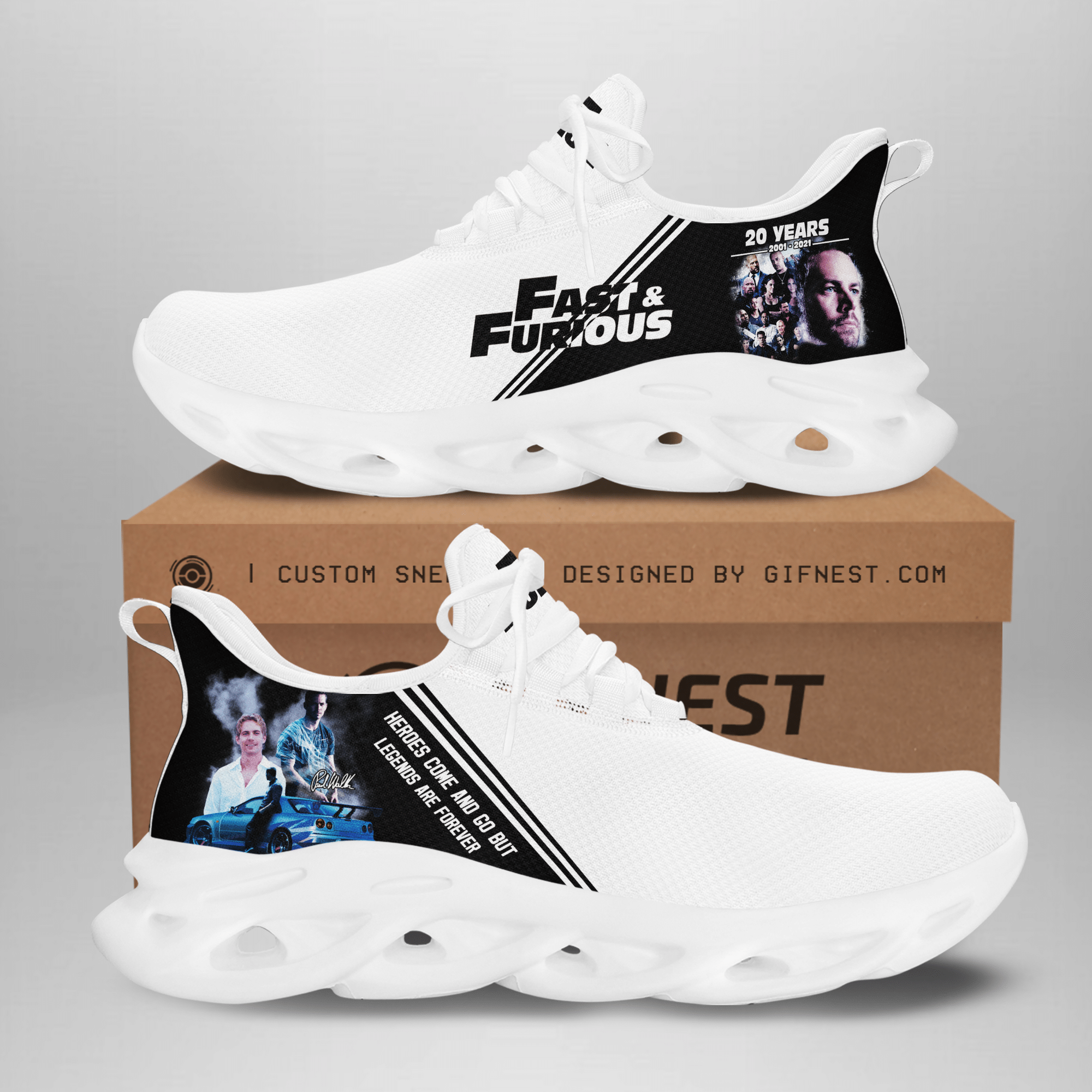 Paul Walker Fast and Furious white Max Soul Sneaker