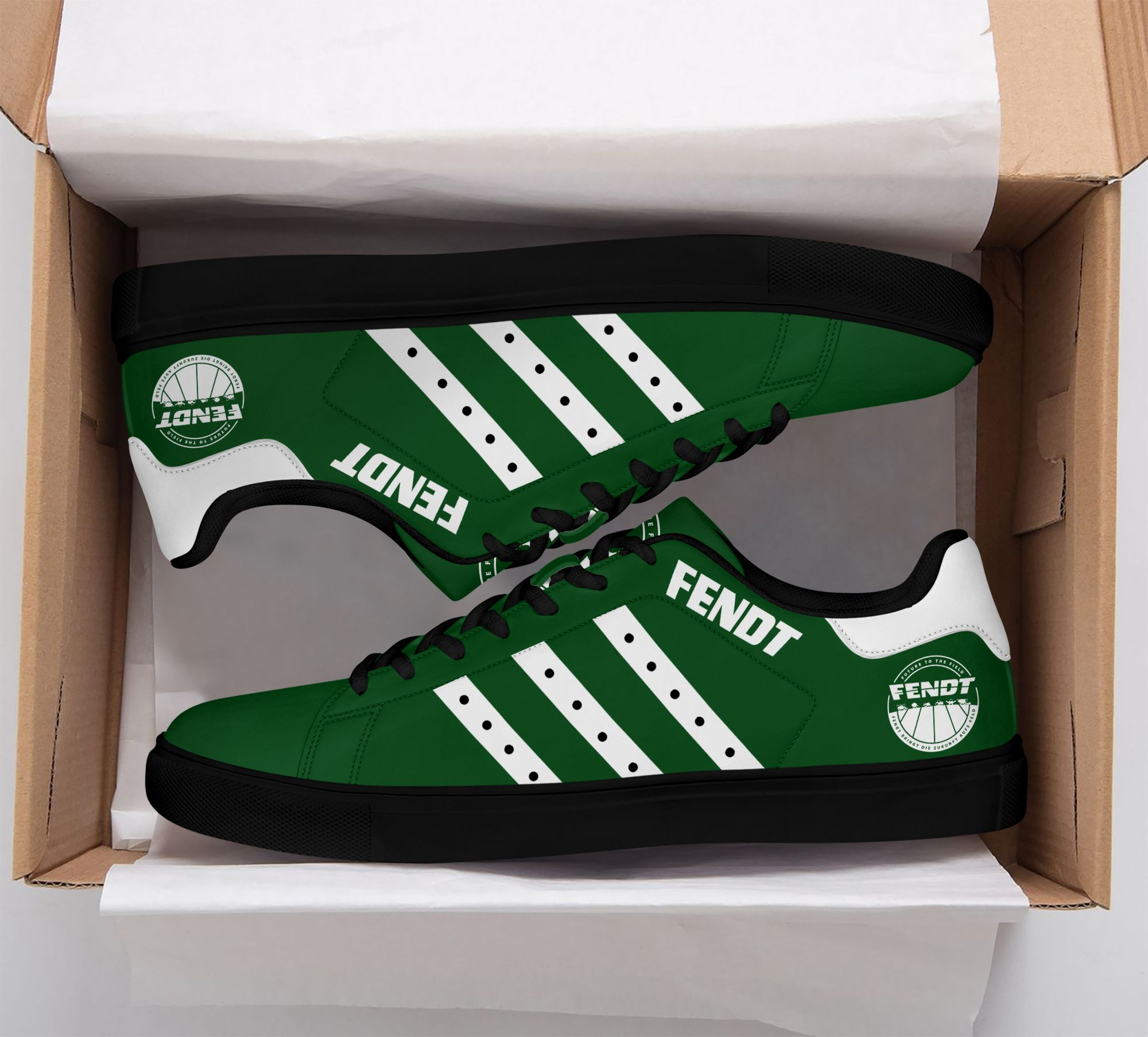 Fendt green and white Stan Smith Shoes Sneaker