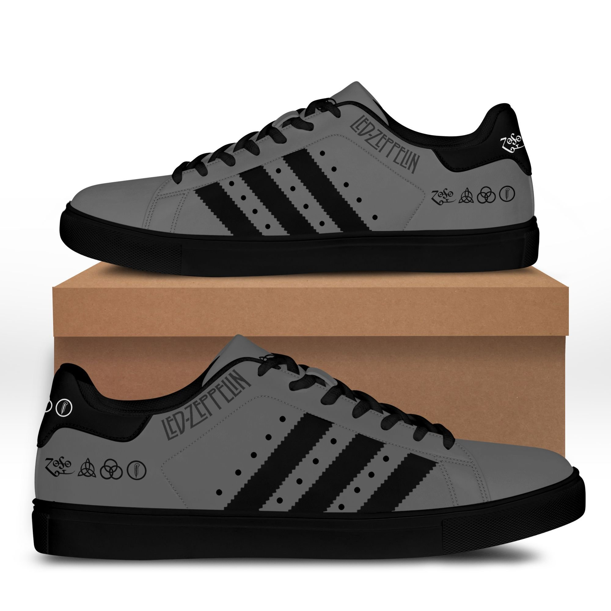 Led zeppelin grey Stan Smith Shoes