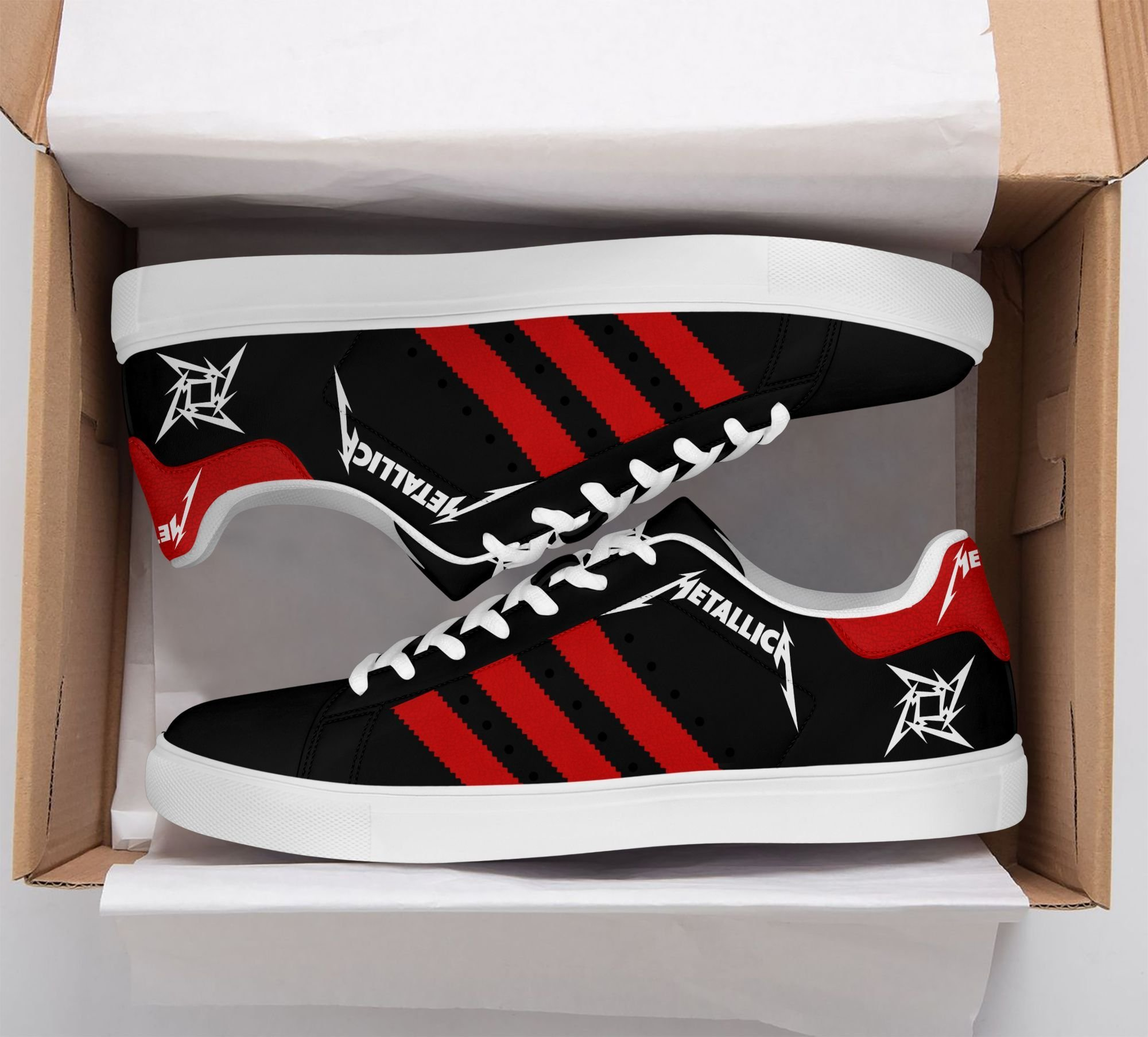 Metallica black and red Stan Smith Shoes Sneaker