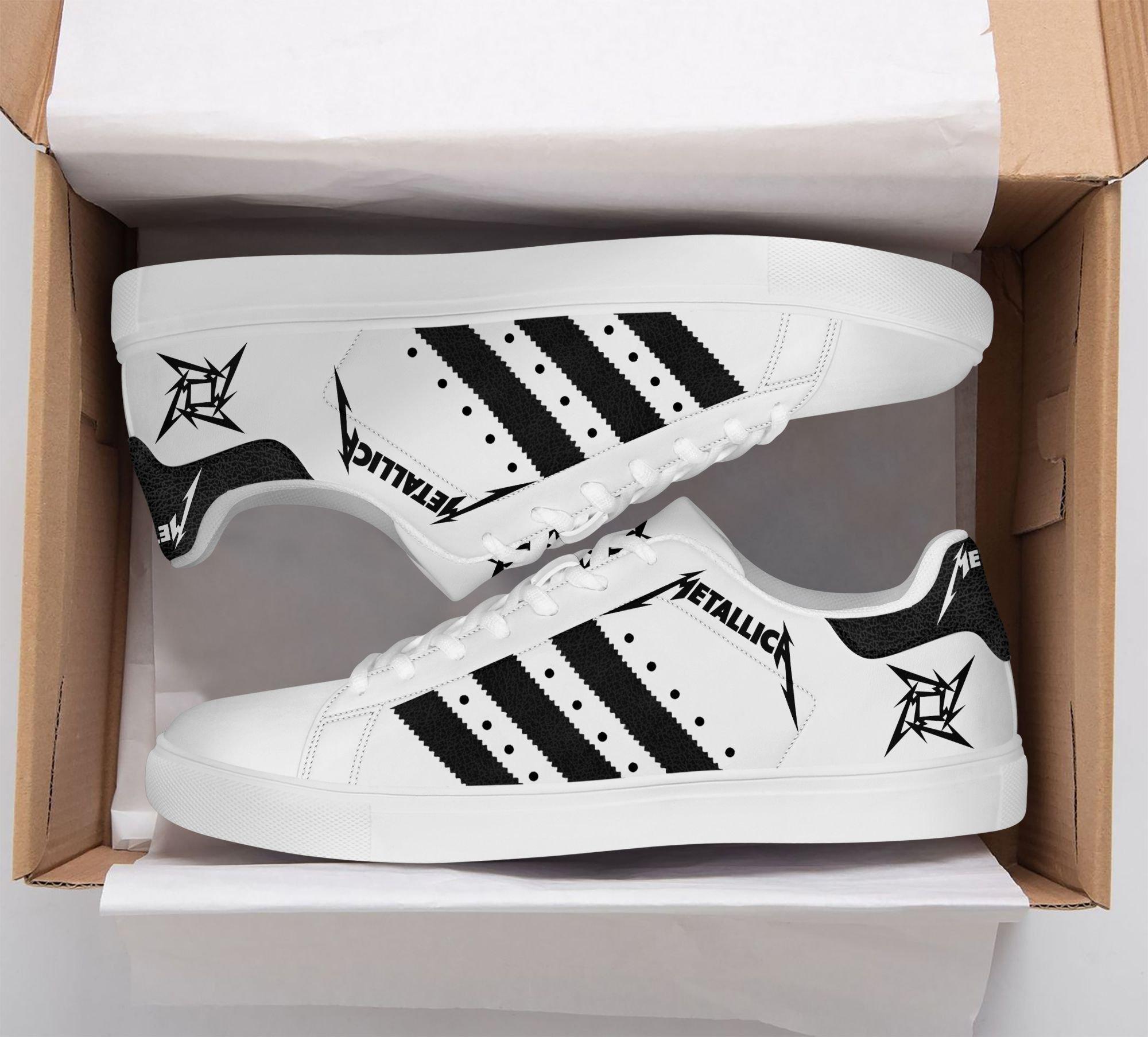 Metallica black stripe line Stan Smith Shoes