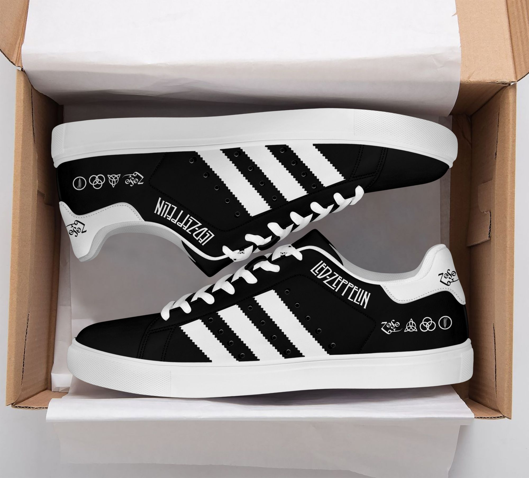 Led zeppelin black Edition Stan Smith Shoes