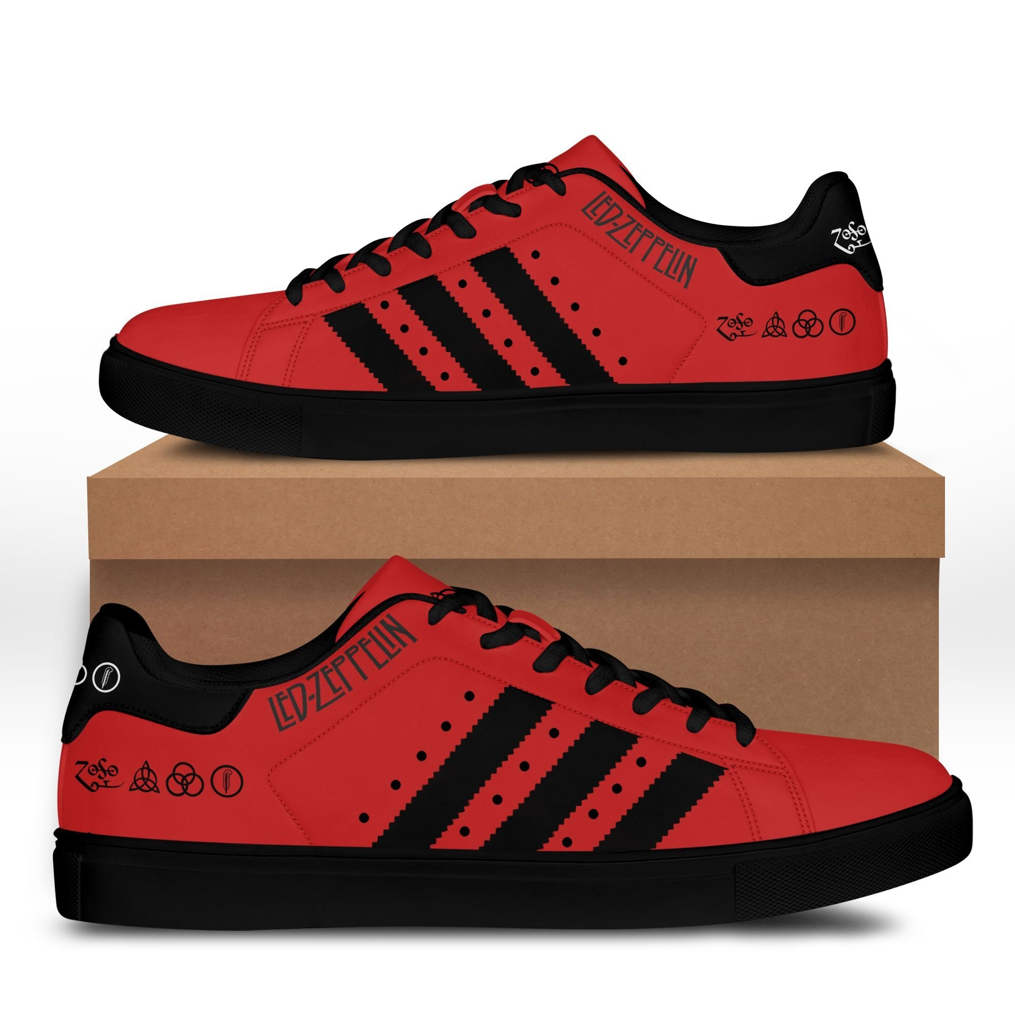 Led zeppelin red version Stan Smith Shoes