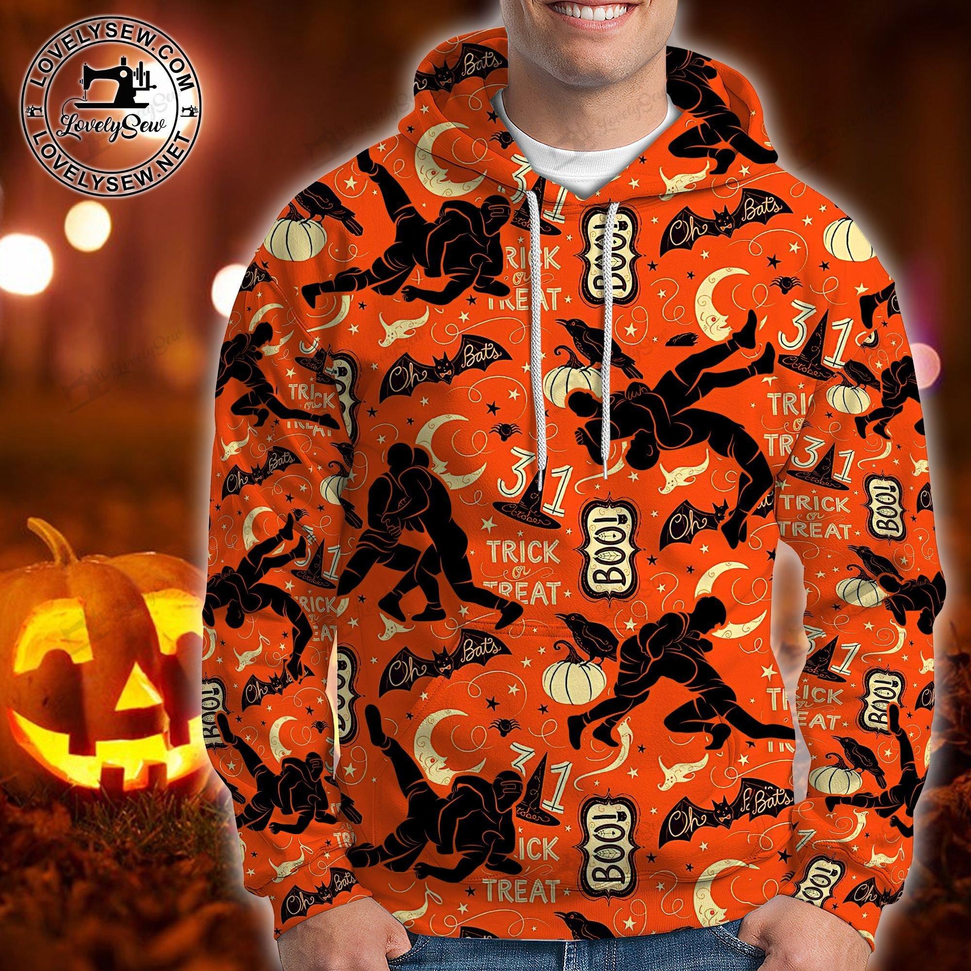 Wrestling Halloween 3D Hoodie and sweatshirt