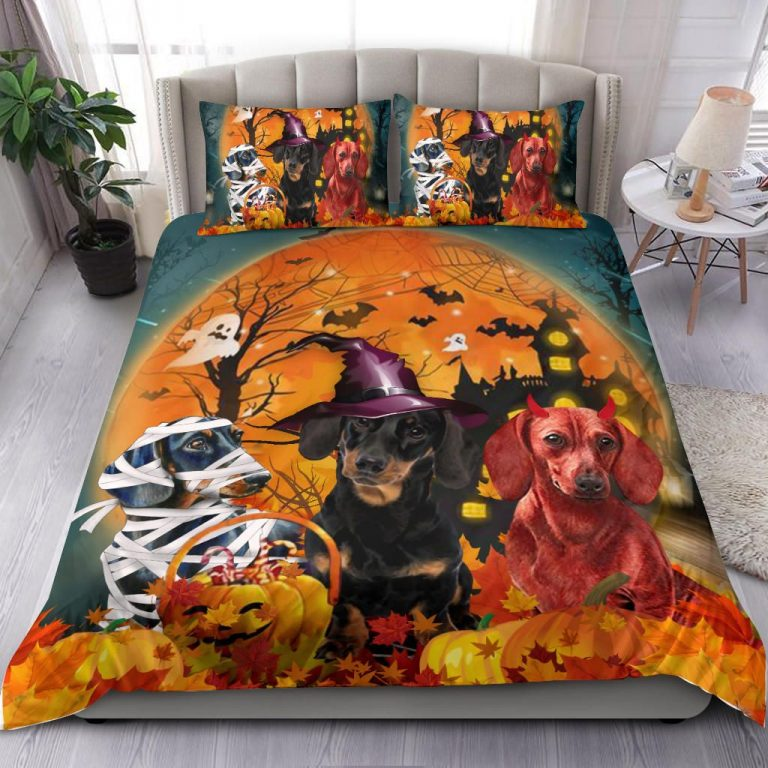 Dachshund Costume Dog Halloween Bedding Set