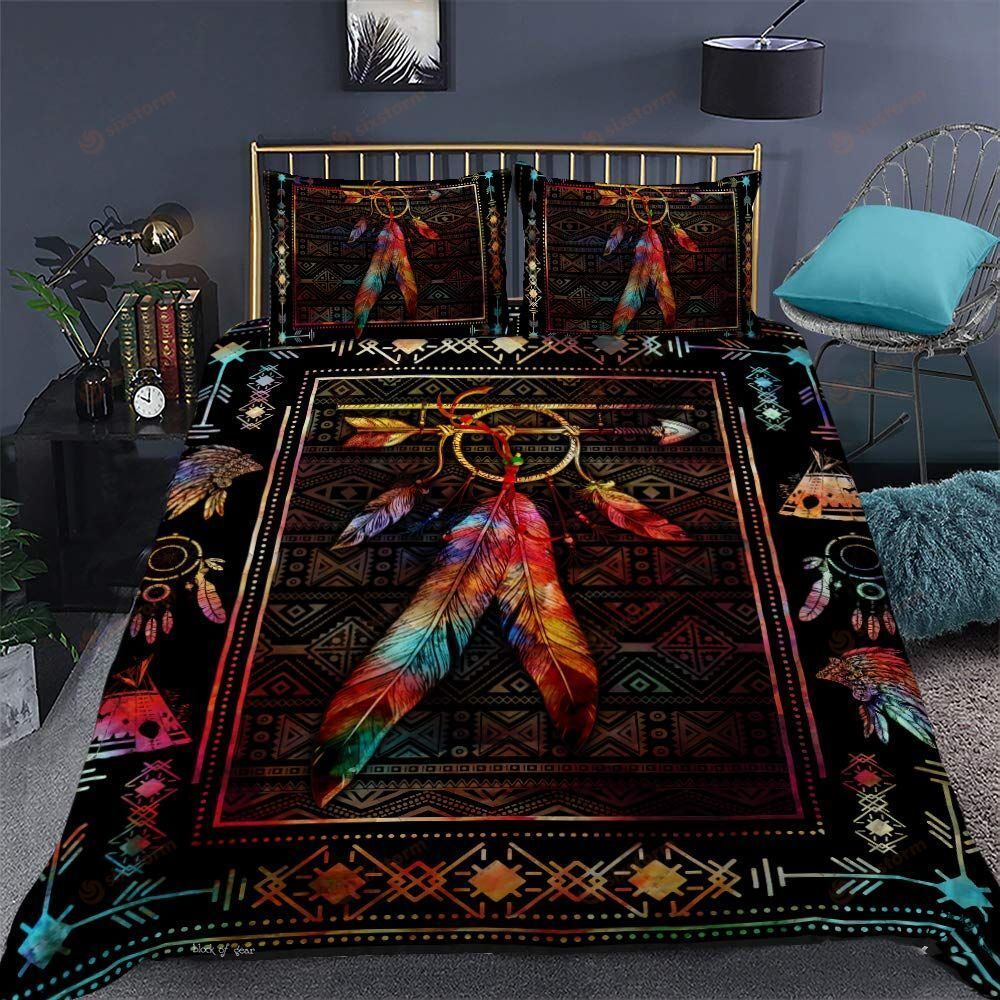 Native American Arrow Color Feathers Bedding Sets