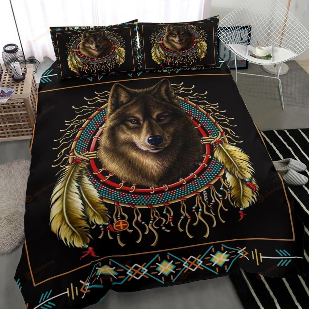 Native American Wolf Pattern Bedding Sets