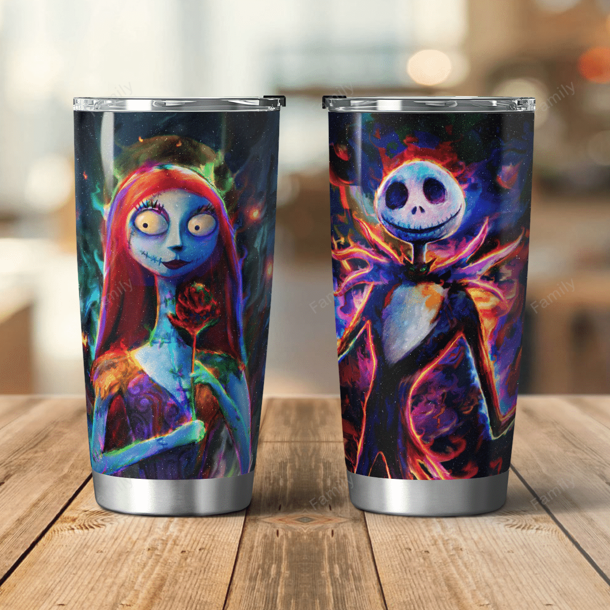 The Nightmare Couple Colorful Tumbler Cup
