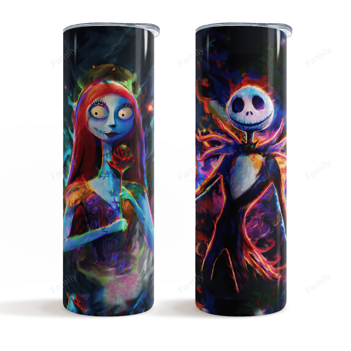 The Nightmare Couple Colorful Skinny Tumbler