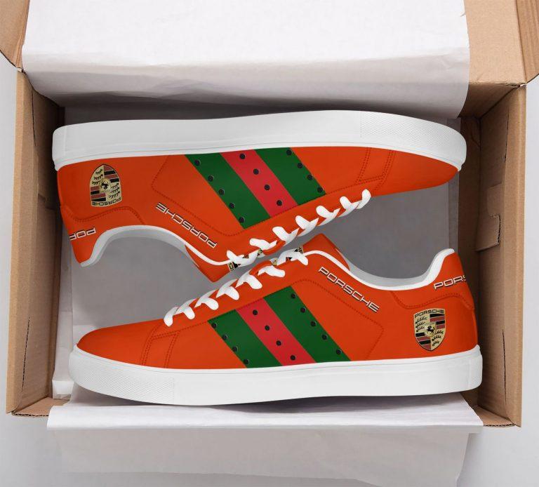 Porsche Orange Stan Smith Shoes