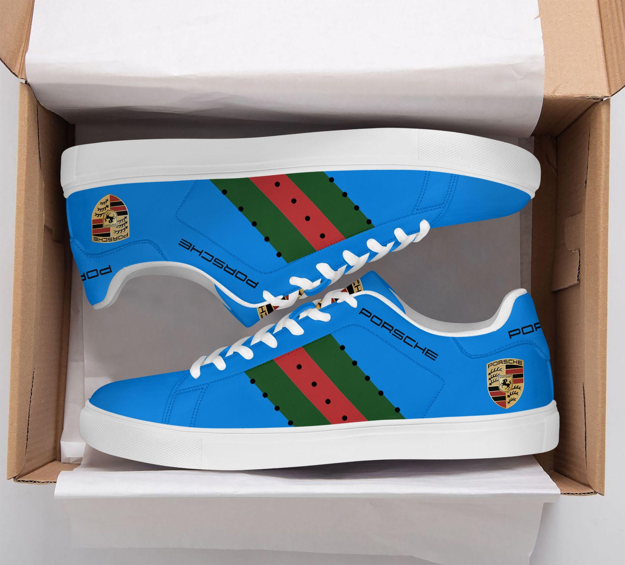 Porsche Blue Stan Smith Shoes