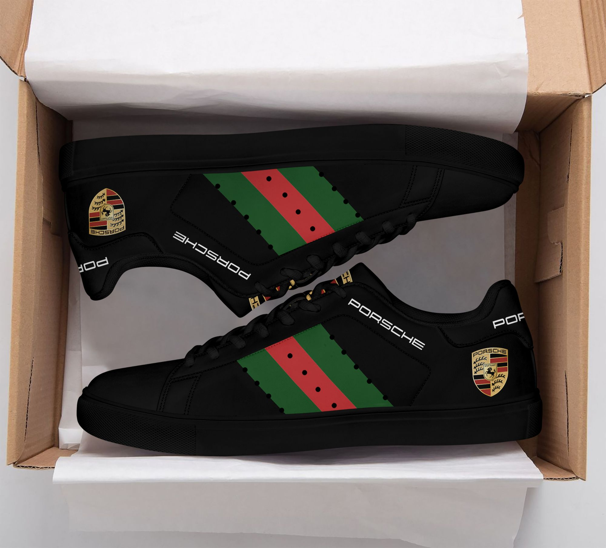 Porsche Black Stan Smith Shoes