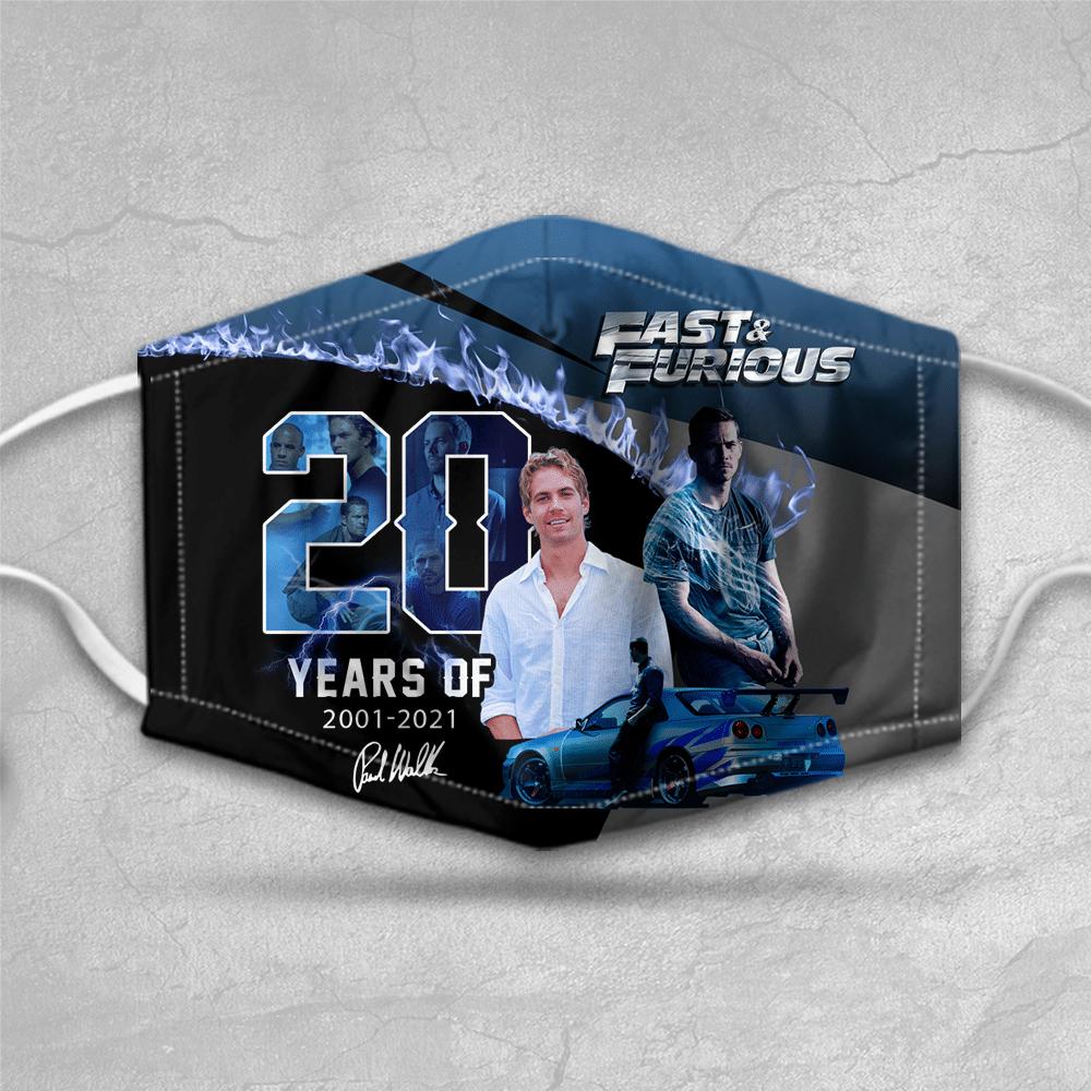 Paul Walker Fast Furious blue face mask