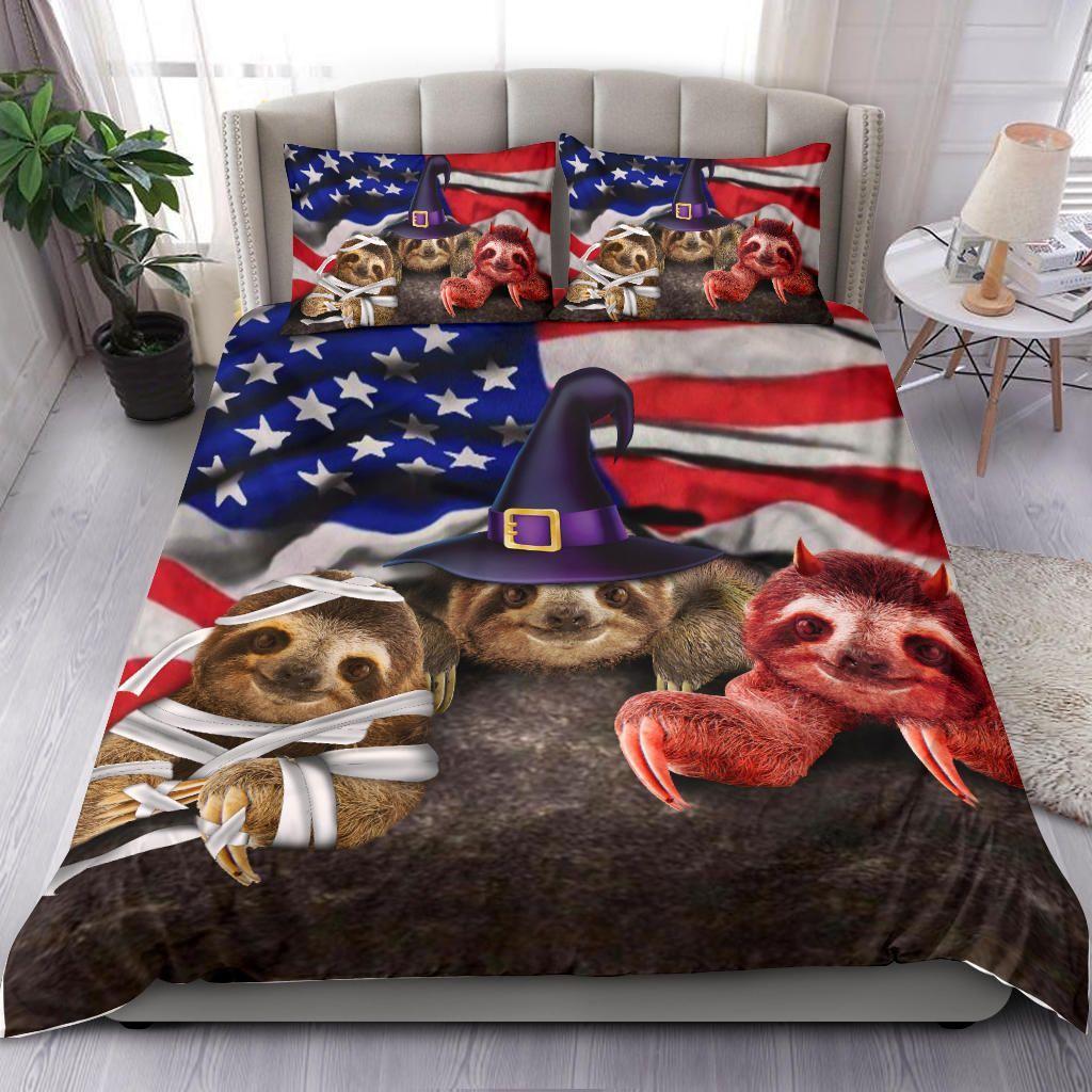 Sloth Halloween Bedding Set
