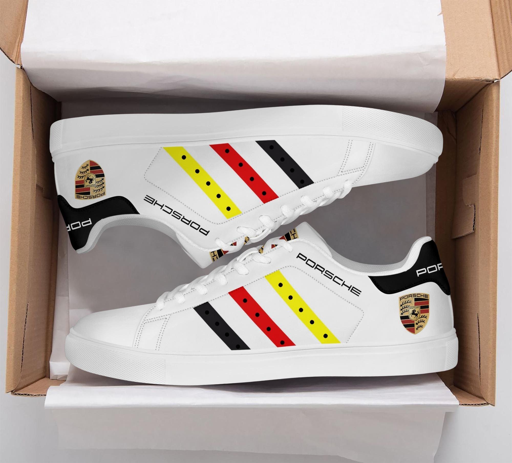 Porsche Color Stripe Line White Stan Smith Shoes