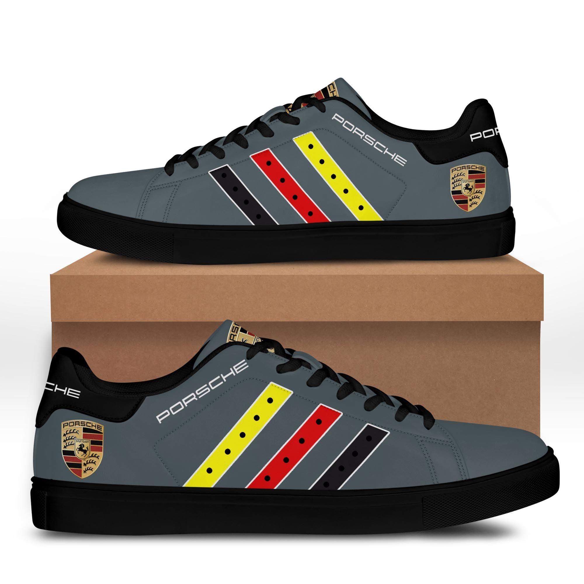 Porsche Blue Grey Stan Smith Shoes