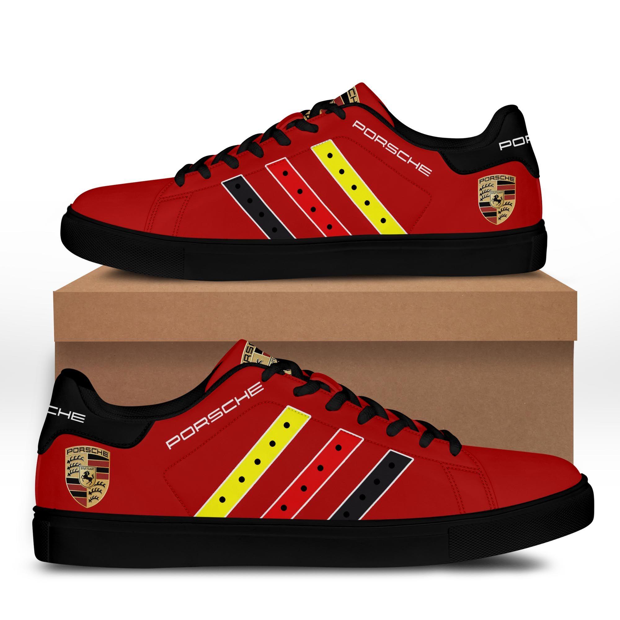 Porsche Dark Red Stan Smith Shoes
