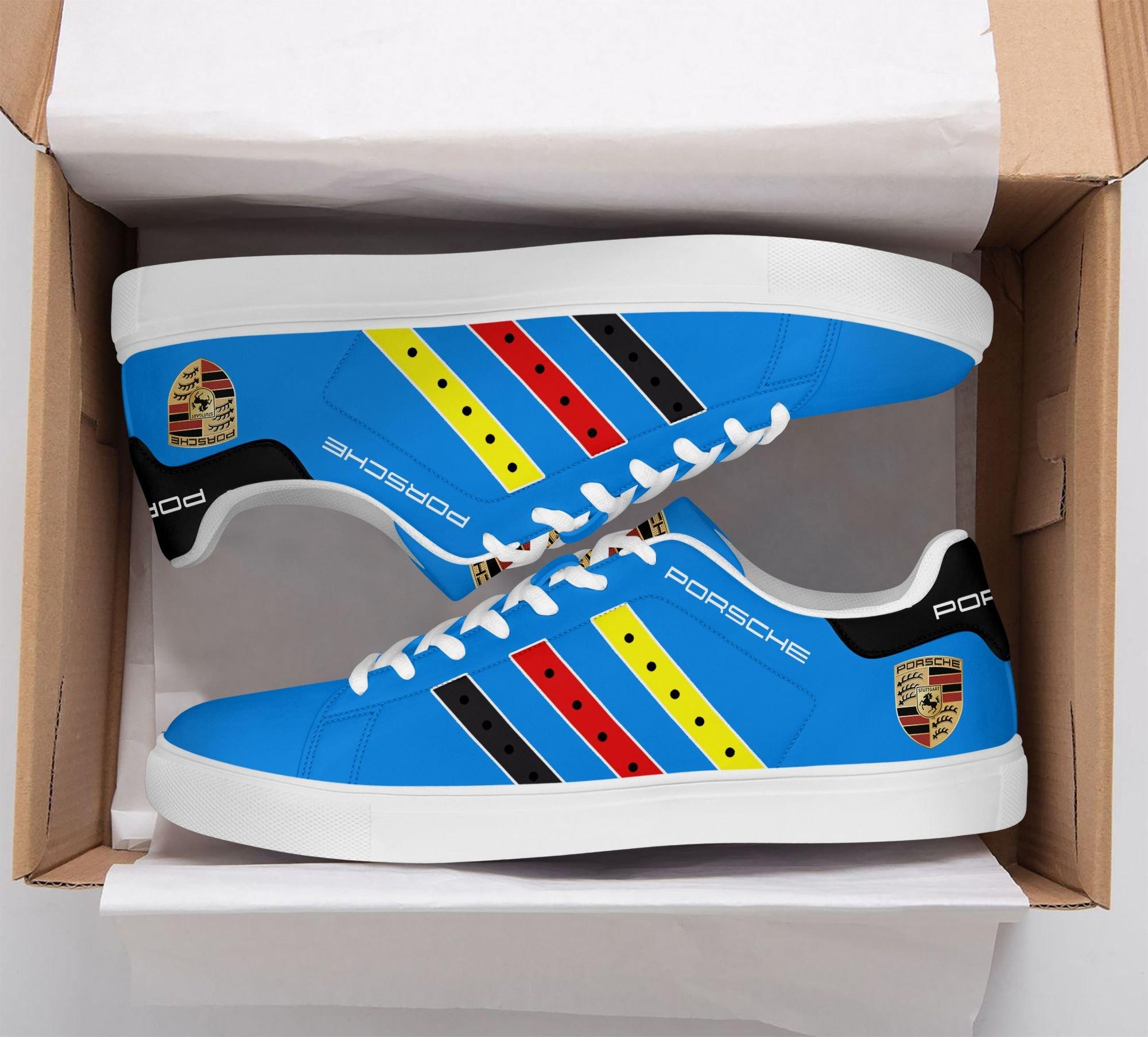 Porsche Color Stripe Line Blue Stan Smith Shoes