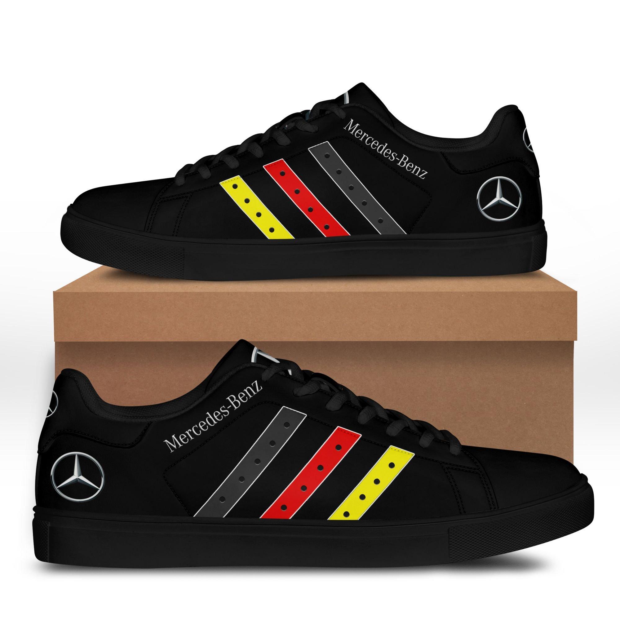 Mercedes Benz Black Stan Smith Shoes