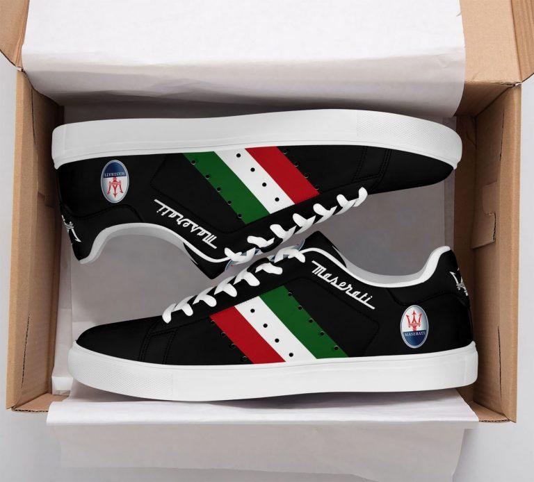 Maserati Color Stripe Lines Black Stan Smith Shoes