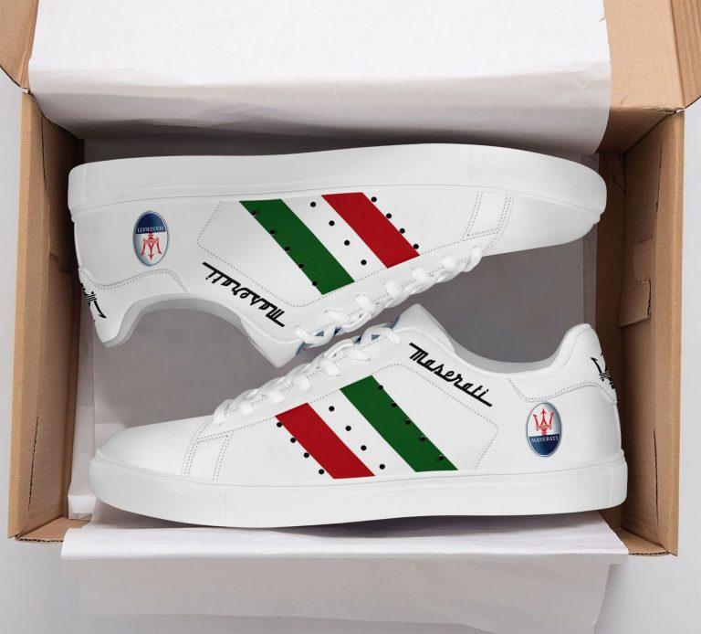 Maserati Color Stripe Lines White Stan Smith Shoes