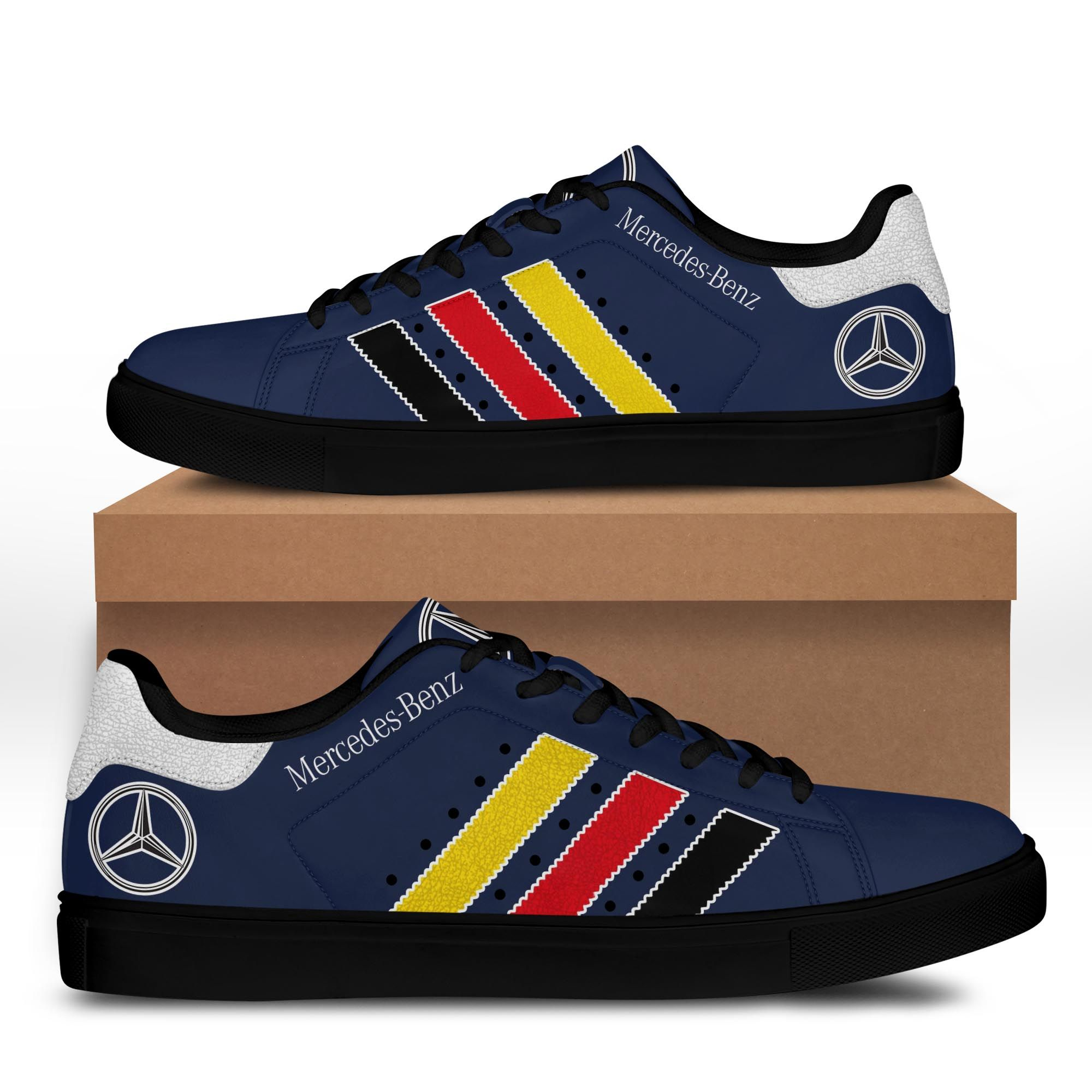 Mercedes Benz Dark Blue Stan Smith Shoes