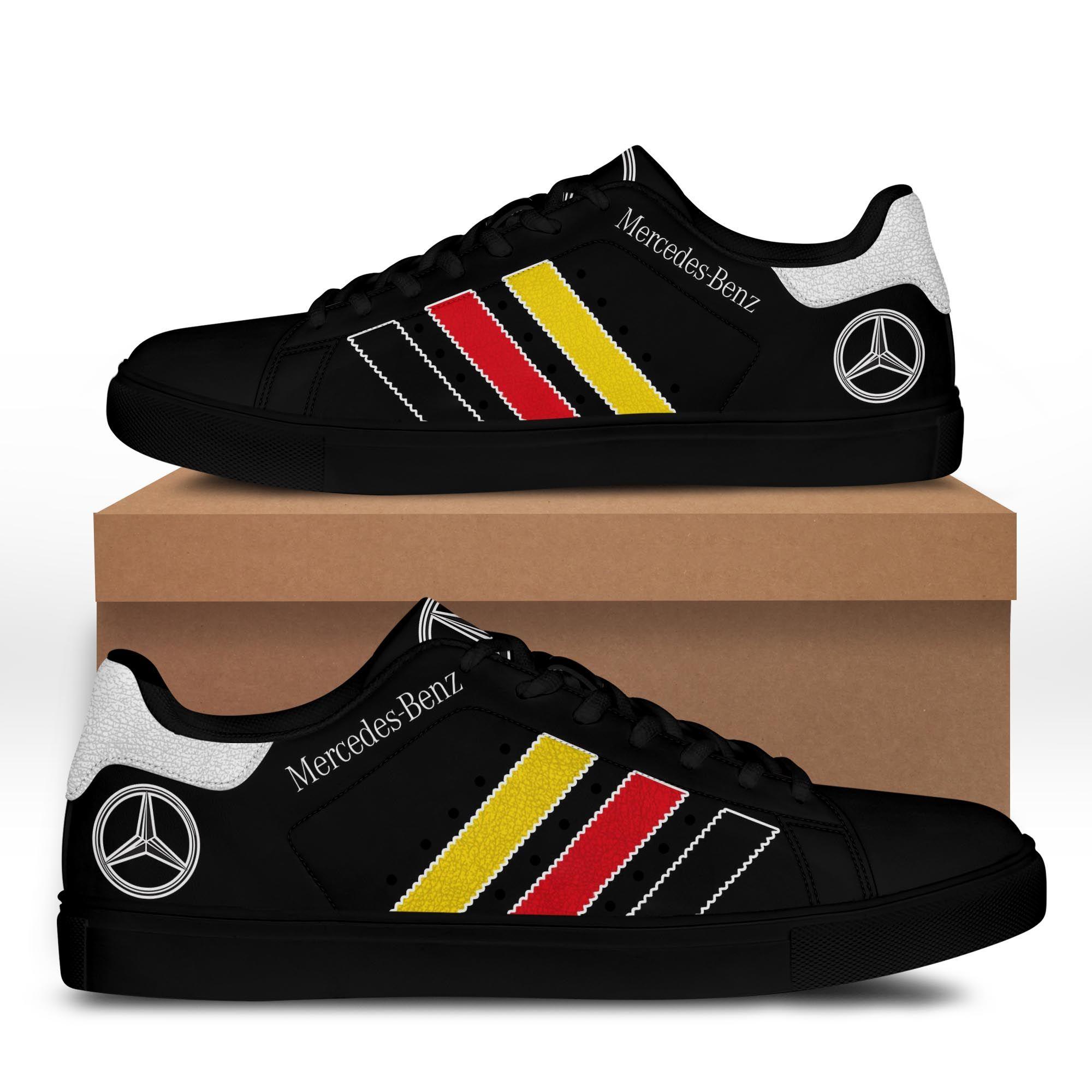 Mercedes Benz Black Stan Smith Shoes Ver 2