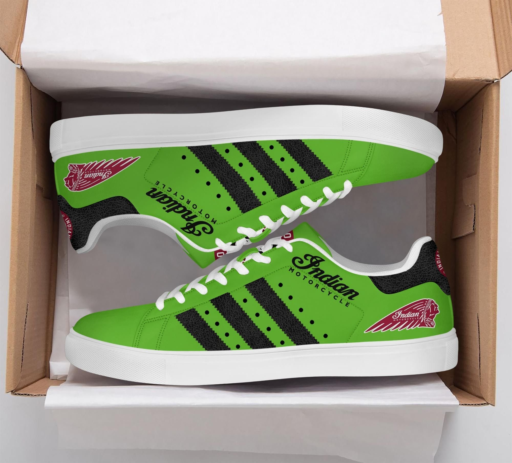 Indian Motorcycle Stan Smith Shoes Sneaker Green version