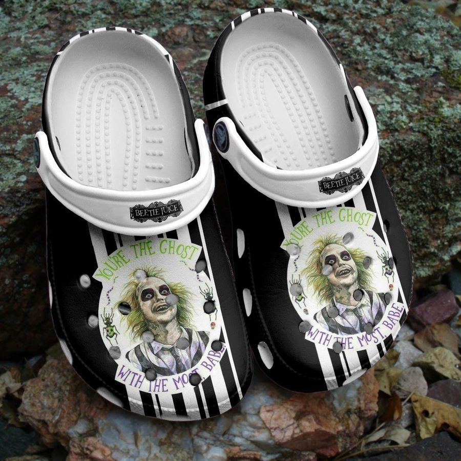 Halloween Beetie Juice The Ghost with babe Crocs crocband clogs