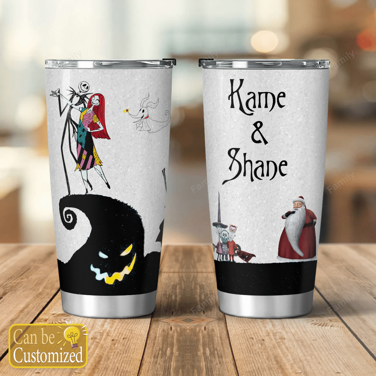 Personalized The Nightmare Couple Christmas Tumbler