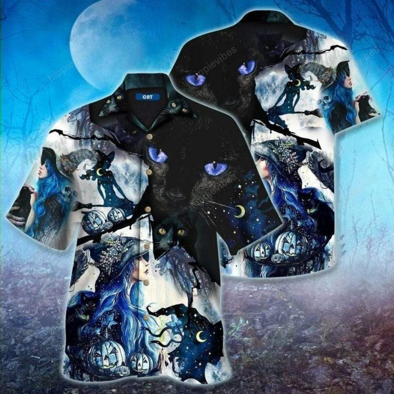 Witch Cat Mystery Halloween Hawaiian Shirt