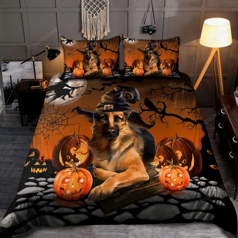 German Shepherd Halloween Bedding Set