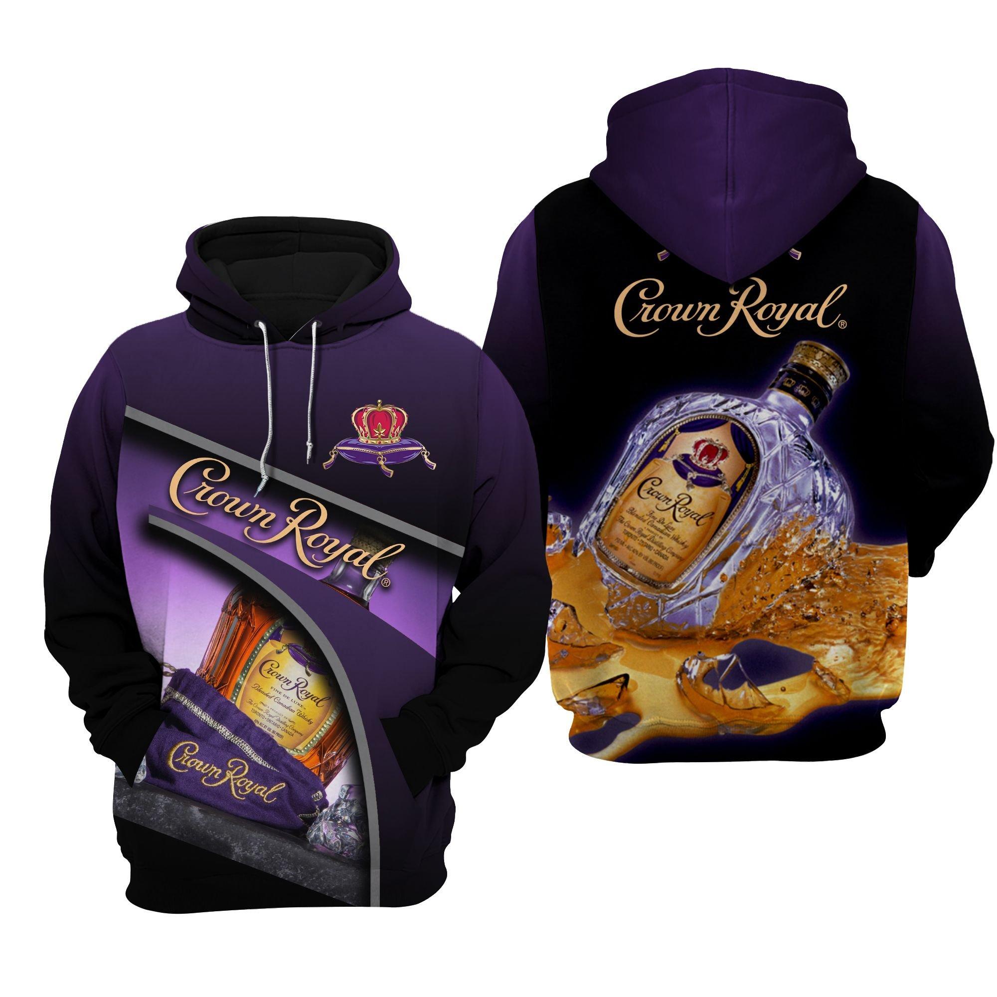 Crown Royal whiskey All Over Printed 3D hoodie