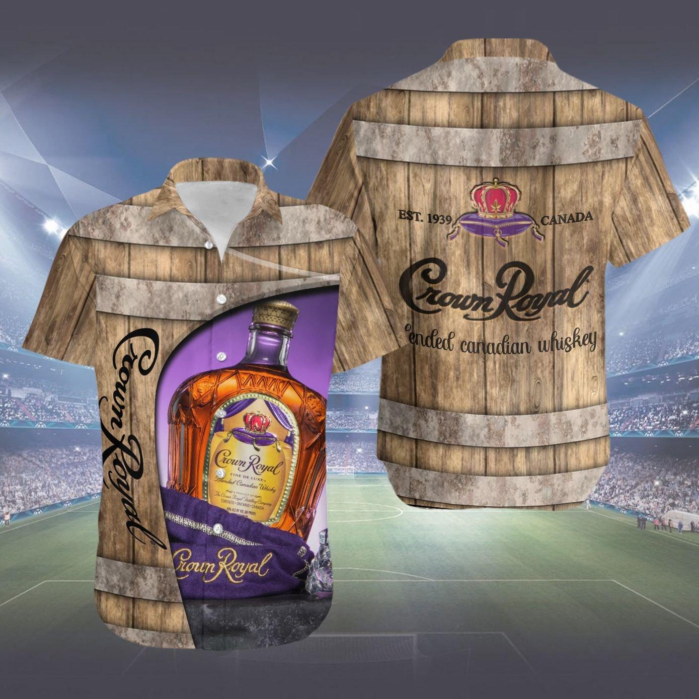 Crown royal whiskey barrel Hawaiian Shirt