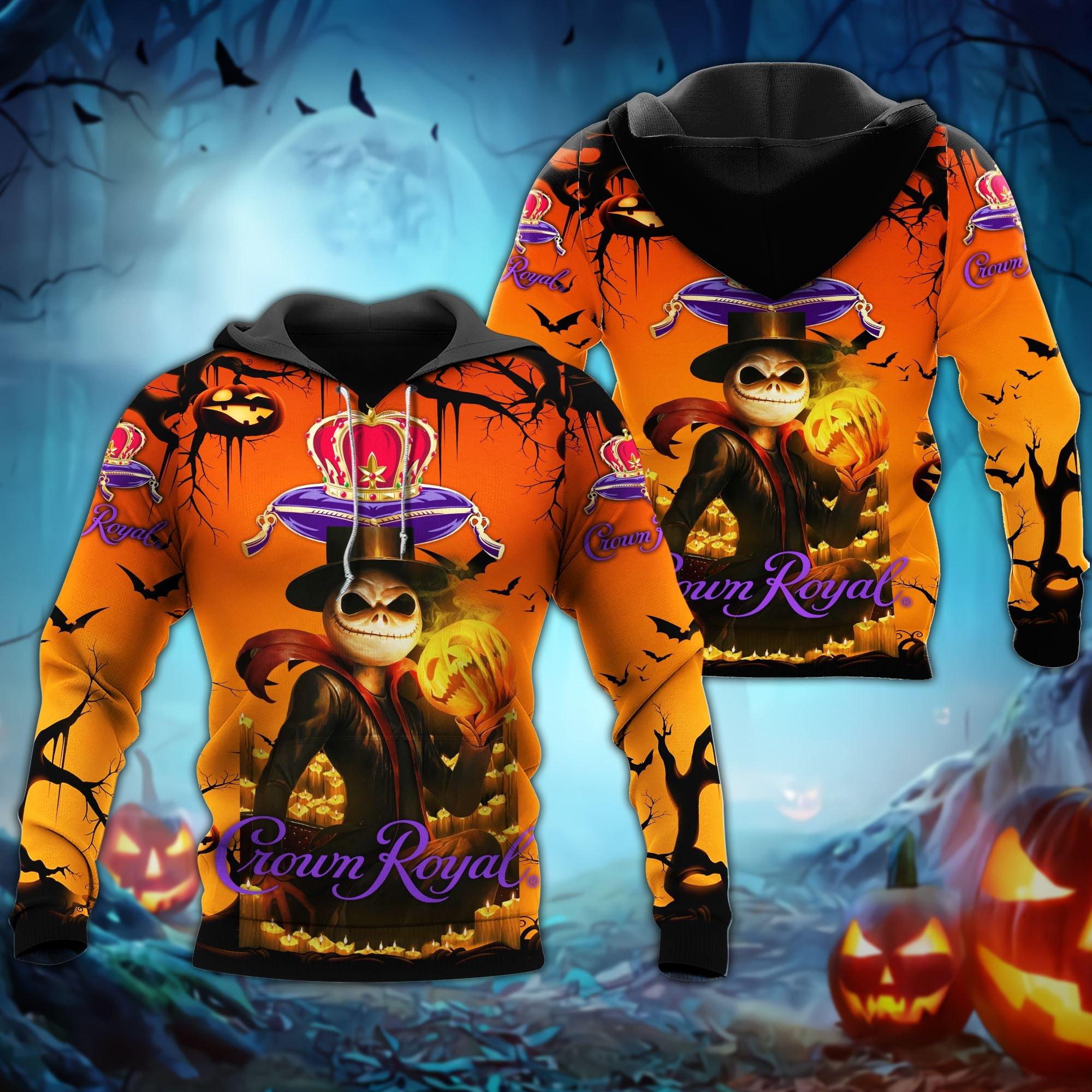 Crown Royal Jack Skellington Halloween 3D Hoodie