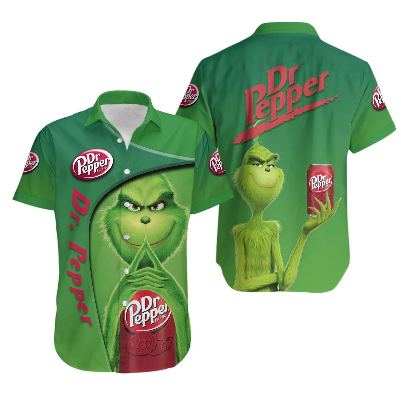 Grinch Dr Pepper Hawaiian Shirt Summer Shirt