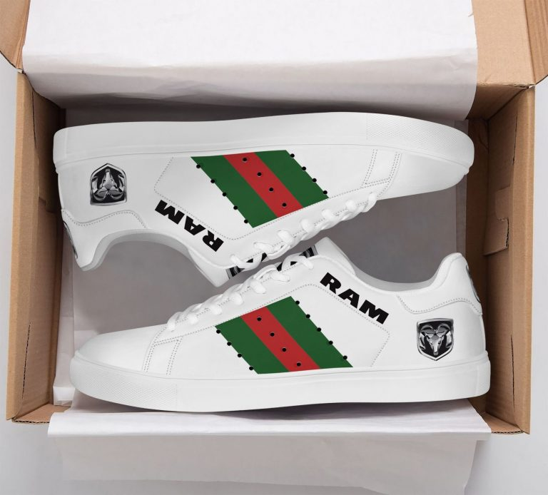 Ram Truck Green Red Line White Stan Smith Shoes