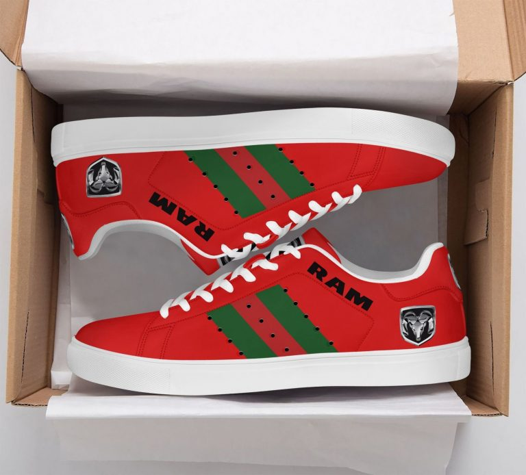 Ram Truck Green Red Line Red Stan Smith Shoes