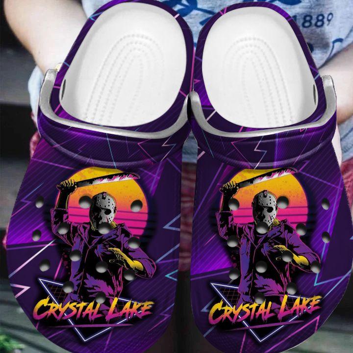 Jason Voorhees Crystal Lake Halloween crocs crocband clogs