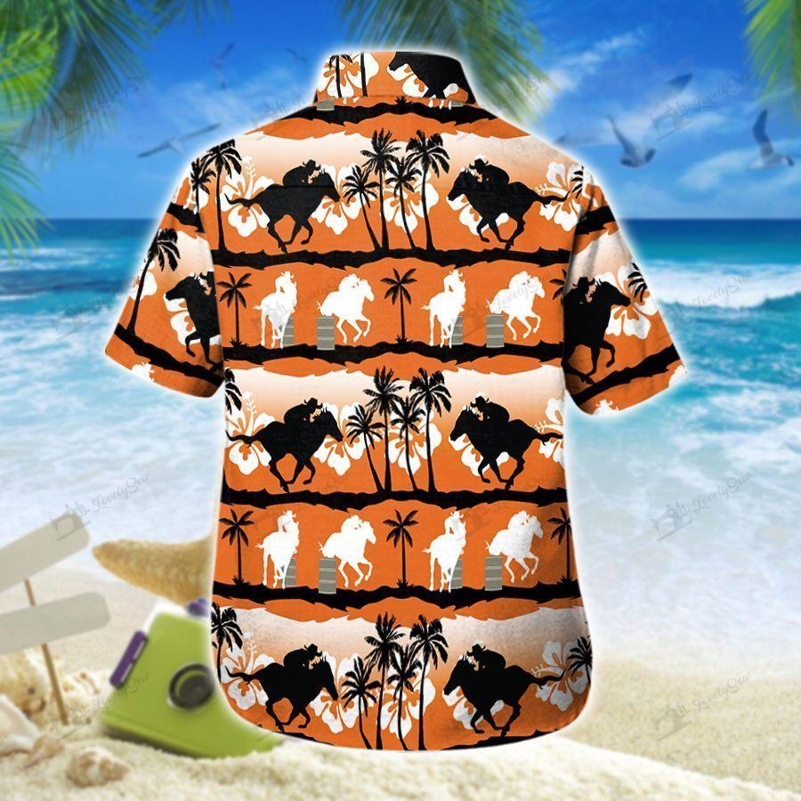 Barrel Racing Sunset Hawaiian Shirt and Men-Women Shorts