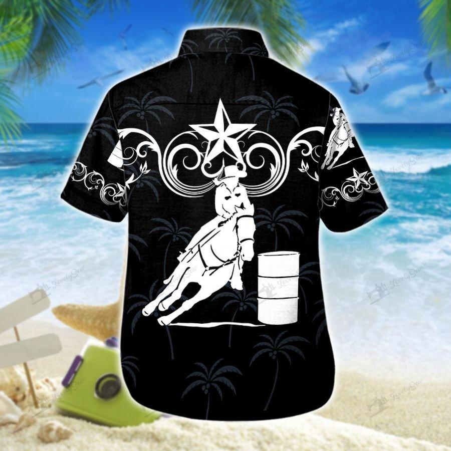 Barrel Racing Black Star Western Hawaiian Shirt and Men-Women Shorts