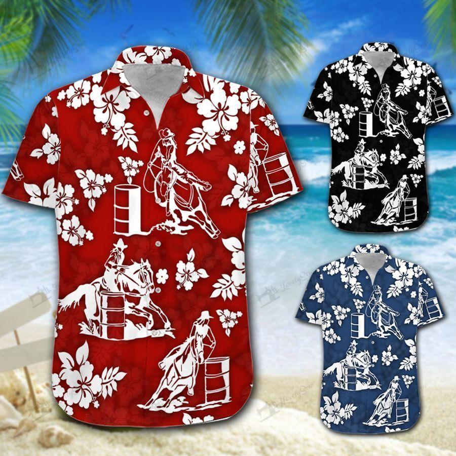 Barrel Racing tropical Hawaiian Shirt and Shorts