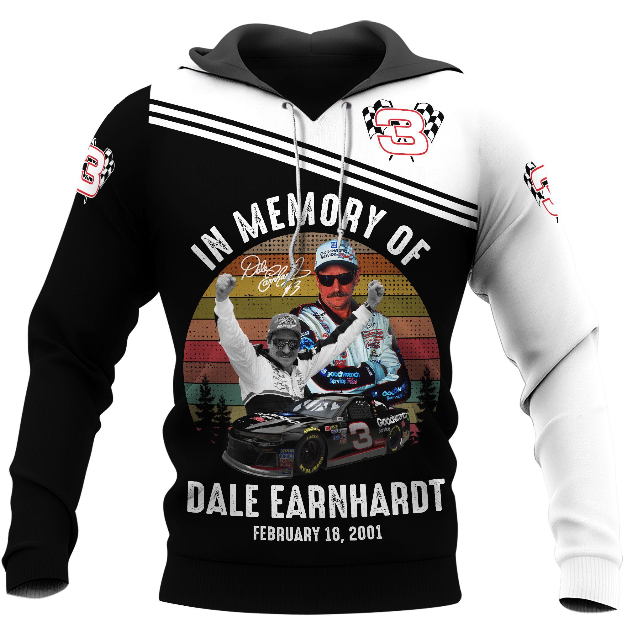 Dale Earnhardt car racing memory 3D Hoodie