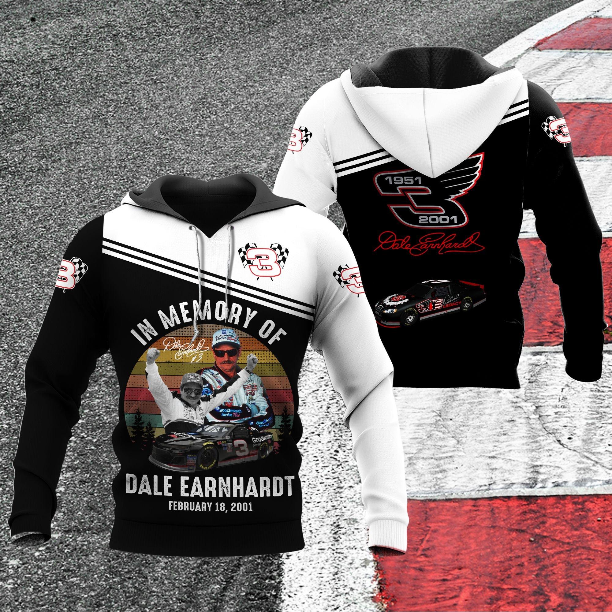 Dale Earnhardt racing 1951-2001 respect 3D Hoodie