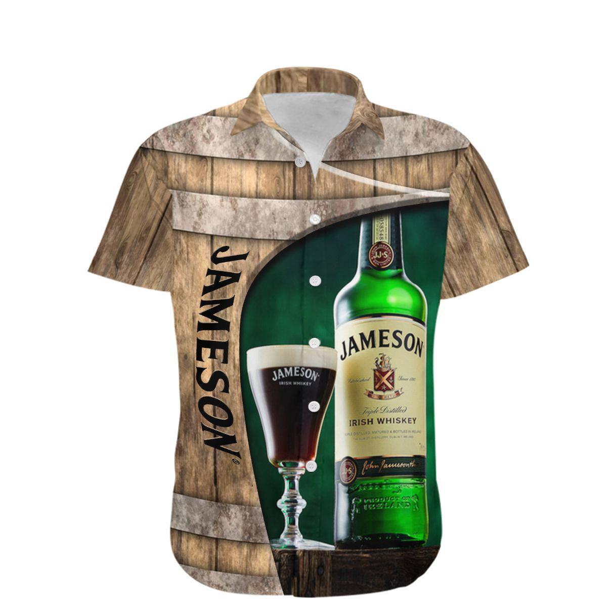 Jameson irish whiskey barrel Full Printed Hawaiian Shirt